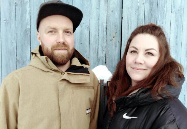 Peder Engström och Malin Öhberg.