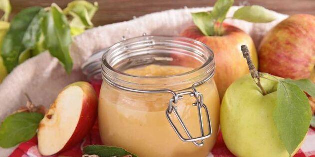 Sockerfritt äppelmos – så gör du det själv