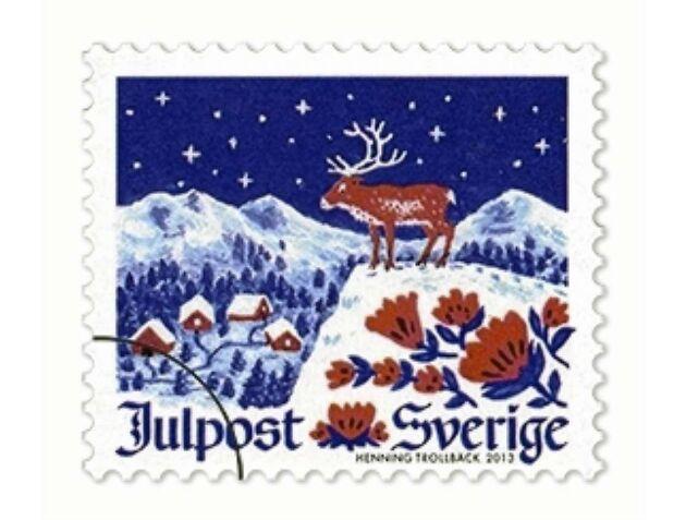 Julfrimärke av Henning Trollbäck 2013.