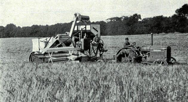 Albert Berg von Linde sparade en man på att låta traktorföraren med en startmotor sköta skärhöjdsregleringen.