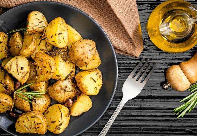 Potatis innehåller kalium som är nödvändigt för att hålla i gång livsnödvändiga funktioner i kroppen.