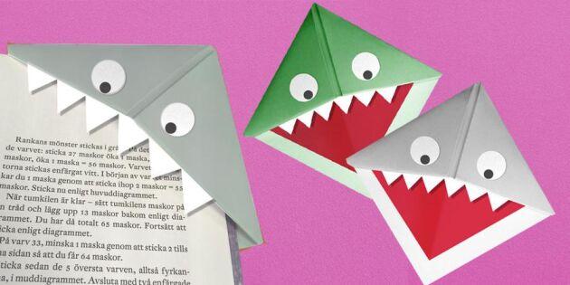Ett monster i boken – vik ett läskigt bokmärke