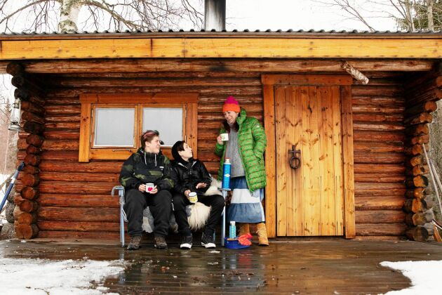 I Spjutbo har Sofia mer tid att umgås med sina barn Madicken och Sigge.