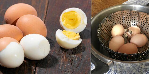 Perfekt kokta ägg varje gång – med ånga