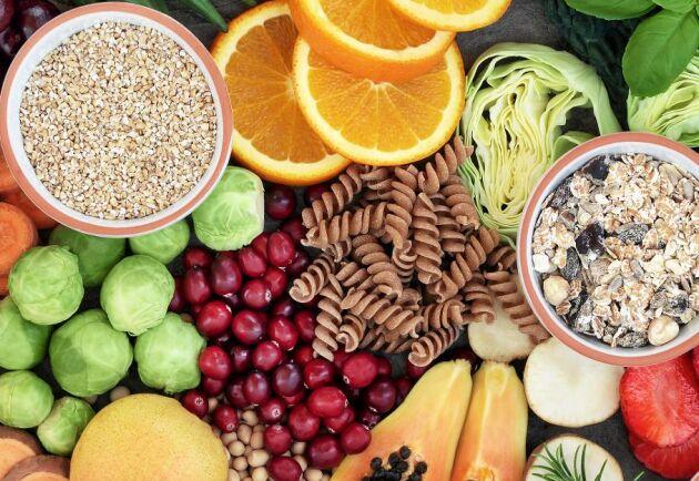 Frukt och grönt är rikt på fibrer som är mycket bra för din hälsa.