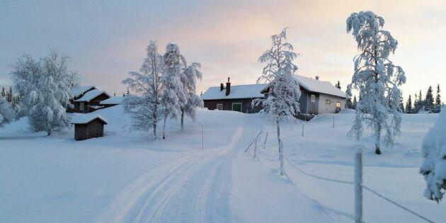 Hon bor ensam på Sveriges sista väglösa fjälljordbruk
