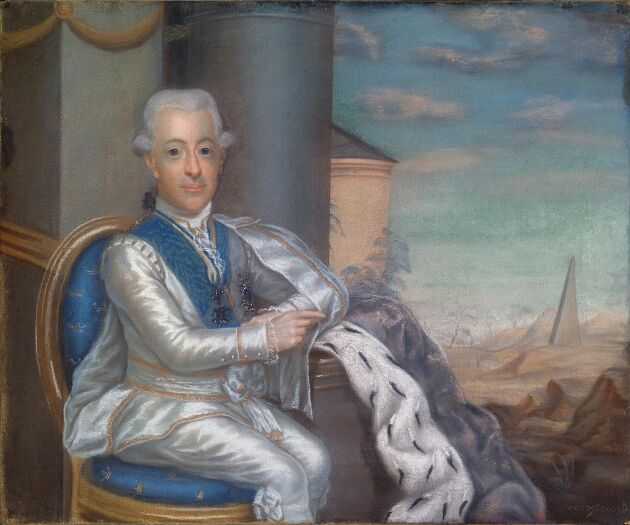 Gustav III portätterad av konstnären Jonas Forsslund, 1754-1809.