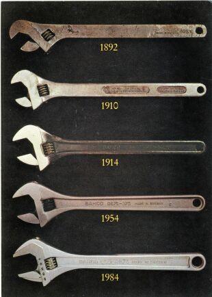 Skiftnyckeln har inte förändrats så mycket på över 100 år.