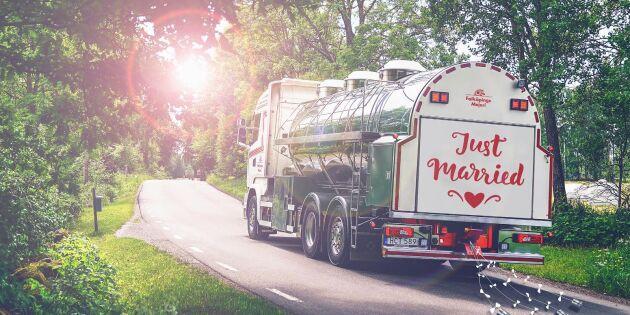 Falköpings Mejeri gör dejtingserie - i mjölkbil