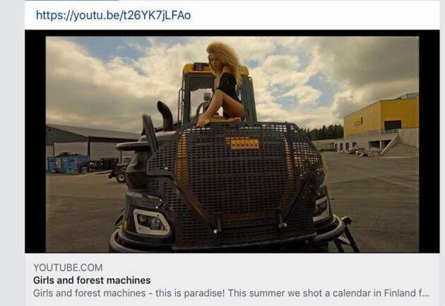 På Youtube har det tidigare funnits ett filmklipp som det tyska företaget bakom kalendern lagt upp. Enligt beskrivningen är det filmat vid Ponsse-fabriken i Finland.