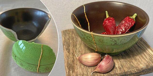 Laga ditt trasiga porslin – på japanskt vis