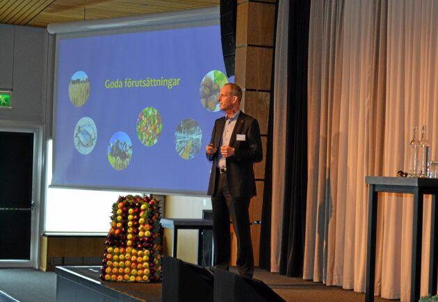 Per Arfvidsson, vice VD för Lantmännen och ordförande för den nya forsknings- och utvecklingsplattformen Sweden Food Arena, berättade att livsmedelssektorn ska bli en ny svensk kärnsektor jämförbar med sektorer som fordon och stål.
