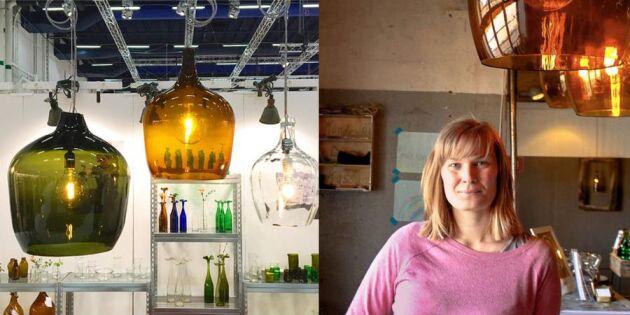 Gammalt glas får nytt liv i Återbrukshyttan