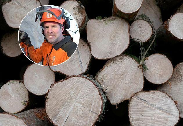 Erik Hjärtfors, skogsägare och småskalig träförädlare.