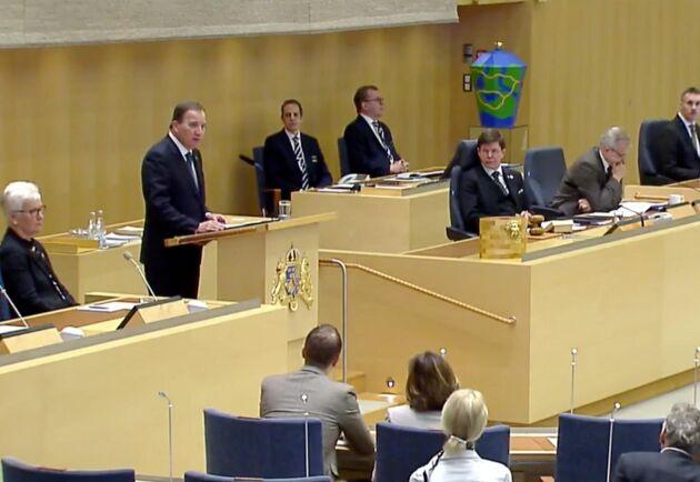 Statsminister Stefan Löfven (S) presenterade sin nya regering på måndagen.