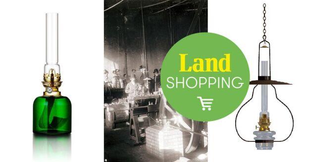 Lampan Lyckeby skapades 1884 och går att köpa än i dag.