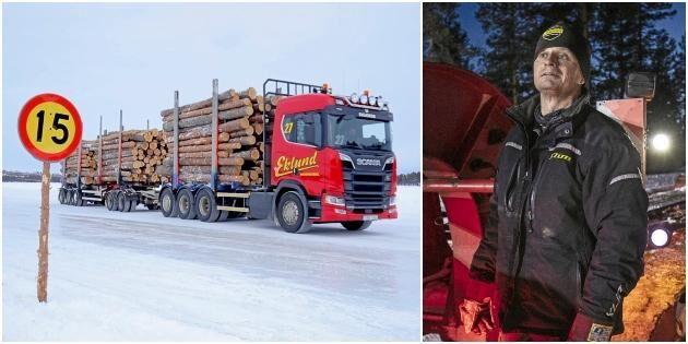 ATL TV: Fraktar timmer över isen – 60 ton i taget