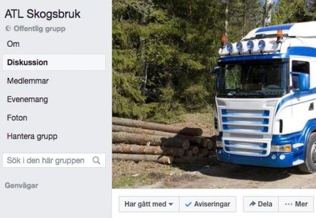 Facebookgruppen ATL Skog vill samla alla som på ett eller annat sätt äger, arbetar med, eller köper skog.