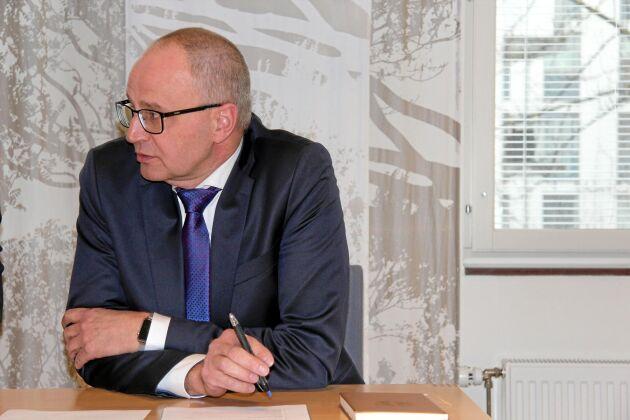 Palle Borgström förde fram synpunkter och förlag till ändringar i langstiftningen till justitieministern.