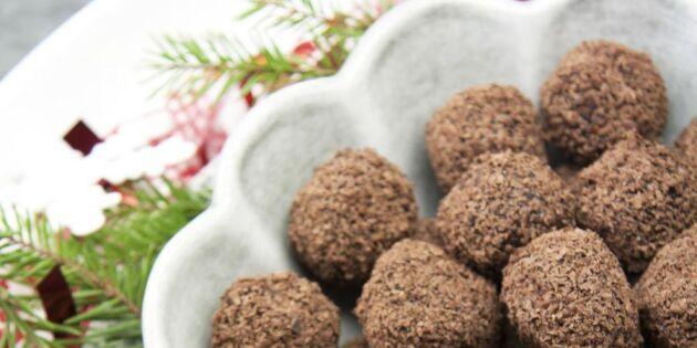 Gör julens mumsigaste chokladbollar – utan vitt socker!