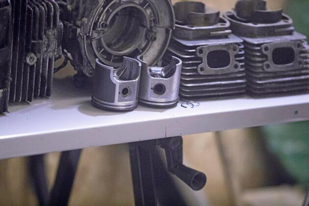 Skruvandet är det roligaste tycker David som älskar att demontera och bygga upp motorer av olika slag sedan han var liten.