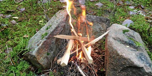 Så gör du upp eld – och tänk på detta vid släckning