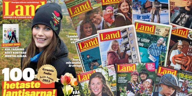 Land 50 år! Sveriges bredaste tidning blev en succé direkt