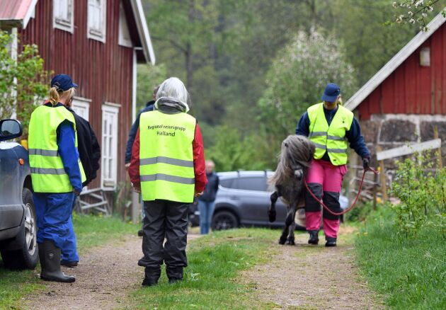 Svenska Blå Stjärnan, Regional Resurs Grupp Halland och Frivilliga Radioorganisationen var på plats.