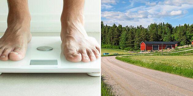 Stor studie visar: Svenskar på landsbygden blir allt mer överviktiga