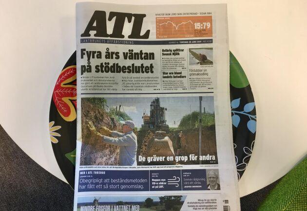 På grund av problem hos tryckeriet som trycker ATL så kommer 4 806 prenumeranter som får sin ATL-tidning per post att inte få den i dag, utan på måndag.