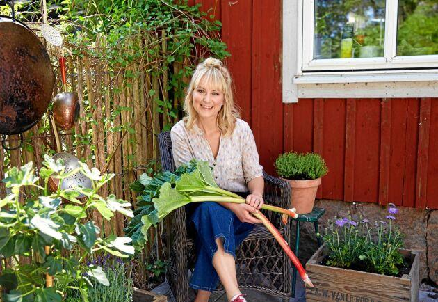 Matkreatören Lisa Lemke älskar sitt liv på den halländska landsbygden.