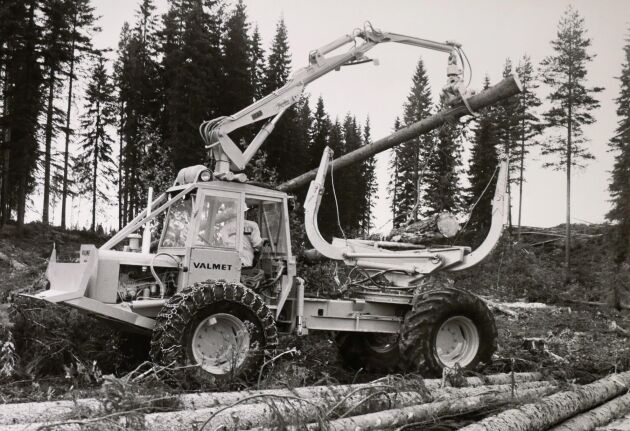 Valmet klämbankslunnare från 1968.