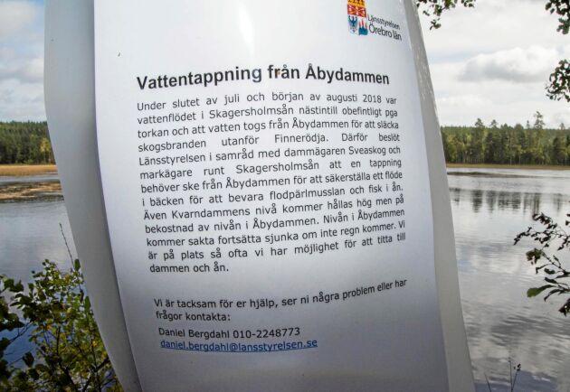 """Enligt länsstyrelsen vidtogs åtgärder för att """"bevara flodpärlmusslan och fisk i ån"""""""