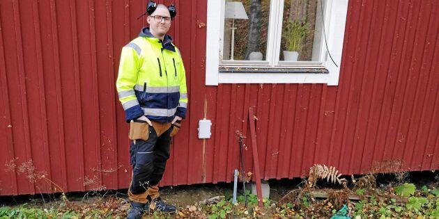 """Pontus i Bergsjö: """"Vi har väntat längst i hela landet på fiber"""""""