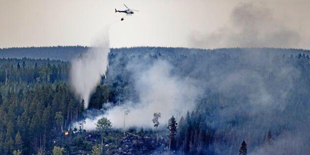 MSB vill att privata helikoptrar ska ingå i nationell brandberedskap