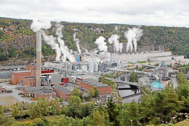 Norske Skogs pappersbruk Saugbrugs i Halden.