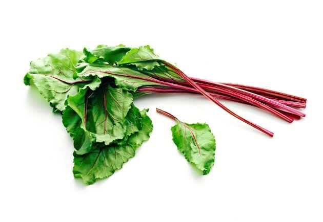 Släng ner rödbetsblad nästa gång du wokar grönsaker!