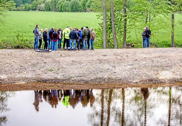 Unik. Intresset har varit stort kring dammen och nyligen hölls en fältvandring.