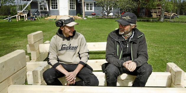 """Far och son gör succé med sina trähus: """"Det mesta går att göra i timmer"""""""