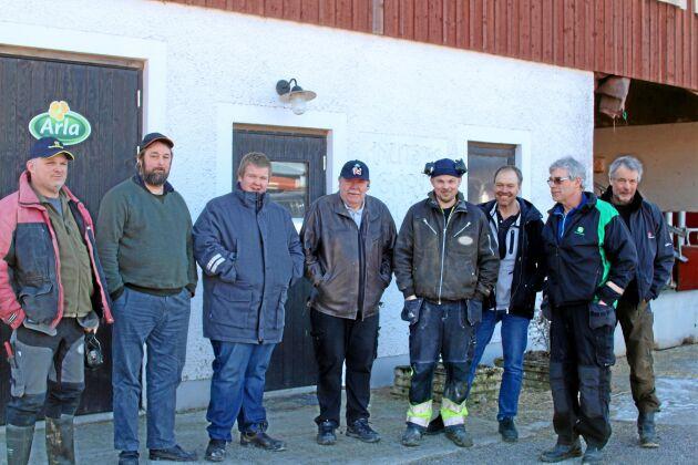 Peter Hildebrand, Leif Larsson, Karl-Johan Larsson, Karl-Arne Larsson, Andreas Hildebrand, Mats Eriksson, Tommy Hellberg och Per-Ola Lisjö.