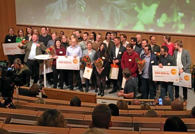 I finalen deltog även Gårdsfisk med konceptet landbaserad fiskuppfödning.