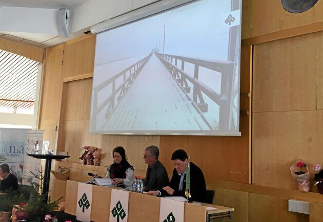 Bryggan i Leksand fick illustrera en rakare väg för Dalarnas jordbruk 2019 efter ett krokigt 2018.