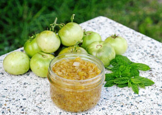 Chutney på gröna tomater – med smak av ingefära