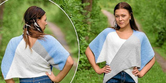 Sjal och tröja i ett – sticka sommarens smartaste plagg