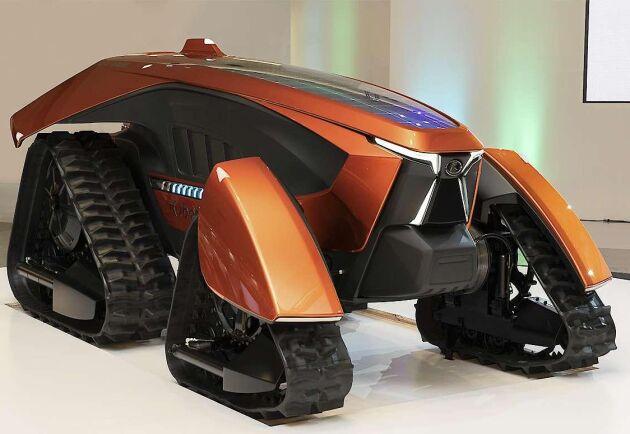 Kubotas drömtraktor är utrustad med artificiell intelligens och ska vara helt elektrifierad och autonom.