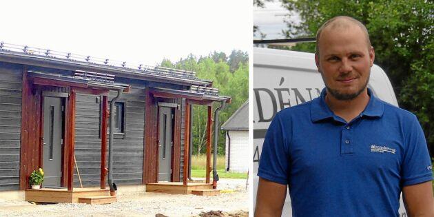 Christoffer bevisar: Det går att bygga billiga hyresrätter på små orter!