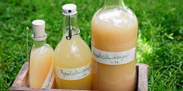 Så gör du din egen äppelcidervinäger – steg för steg