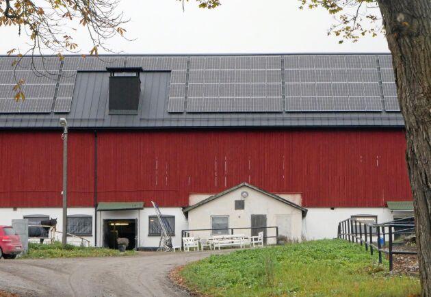 Solceller har installerats under hösten 2019, avräkningstiden är 7 år.