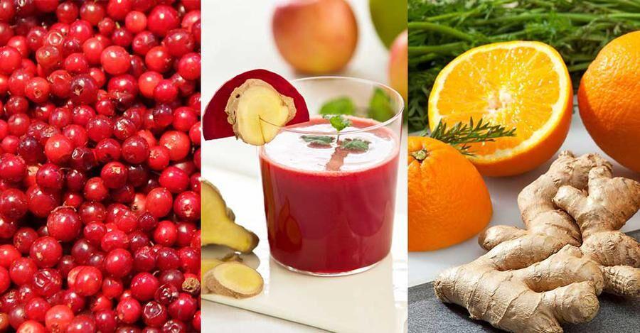C-vitaminkick med apelsin, ingefära och lingon. Foto: Istock