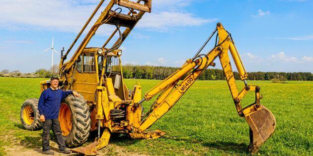 Här är baklastaren som blir en traktorgrävare